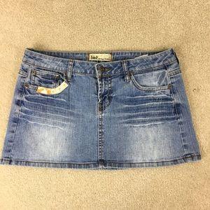 Vintage LEI Micro Mini Thrashed Skirt sz 7